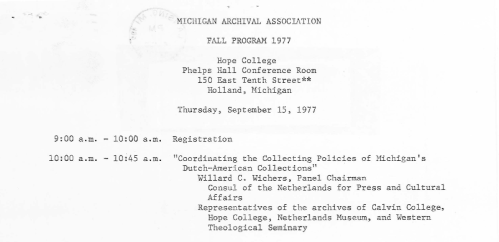 Fall 1977 meeting snip