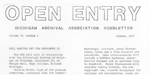 Open Entry Summer 1977 snip