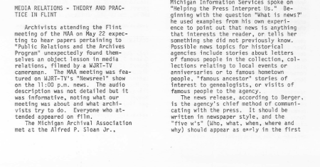 Portion of page 2 from the Summer 1979 issue.
